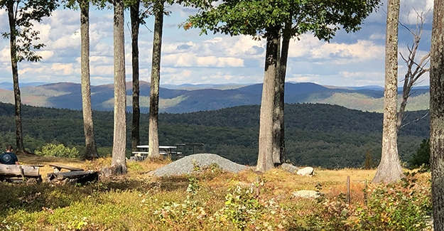 Richardson Zlogar views on the New England Trail