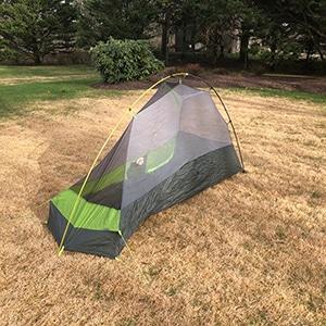 Corner view nemo hornet 1p tent for sale