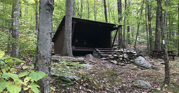 NET Shelter on Trail Near Park