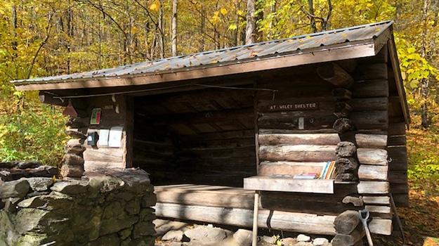 Shelter on the Appalachian Trail in Connecticut
