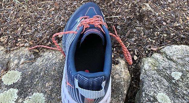 Inside of HOKA shoe