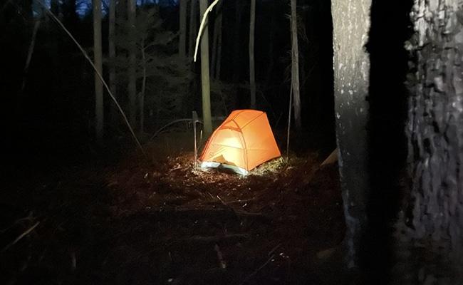 Copper Spur tent on BMT