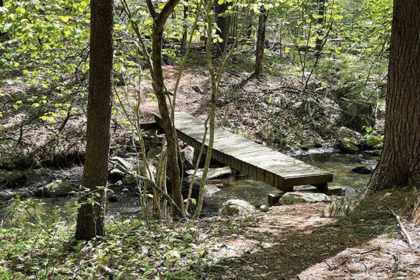 Rickety Bridge over creek