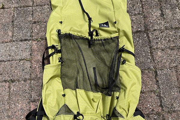 Mesh pocket on back of MLD Prophet Pack