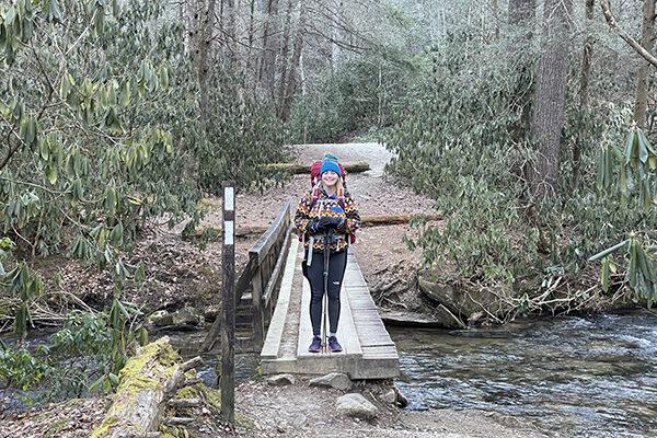 Sam at stream crossing