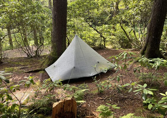 Zpacks Hexamid Shelter on the BMT