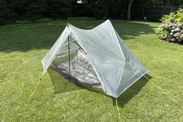 Exterior view of Duplex tarp tent shelter