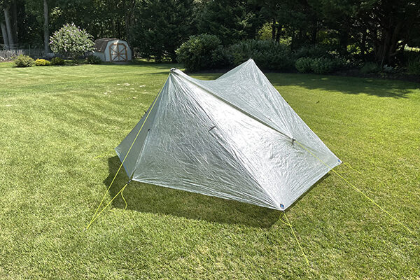 Exterior closed up tarp tent shelter for review